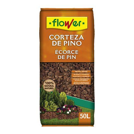 FLOWER STYLE Corteza de Pino 8/15 para Macetas y Jardineras, 50 Litros