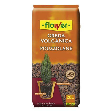 FLOWER STYLE Greda Volcánica 12/18 para Macetas y Jardineras, 20 Litros