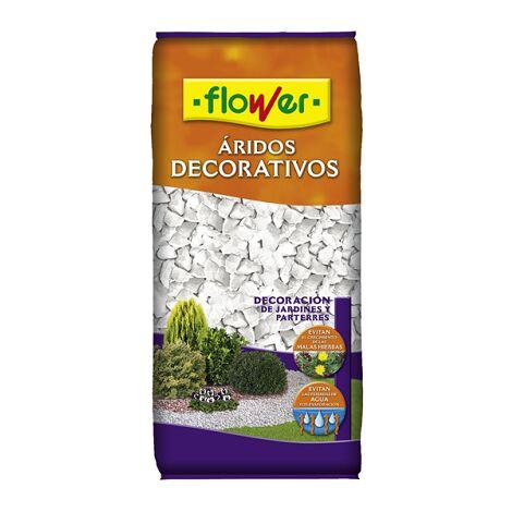 FLOWER STYLE Marmolina Blanca 12/18 para Decorar Macetas, Parterres, Jardines, etc - 20 L
