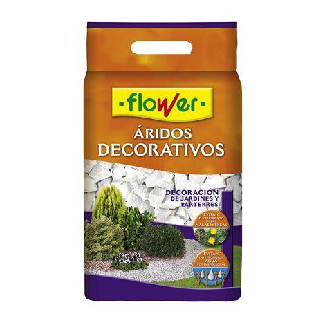 FLOWER STYLE Marmolina Blanca 9/12 para Decorar Macetas, Parterres, Jardines, etc - 8 L
