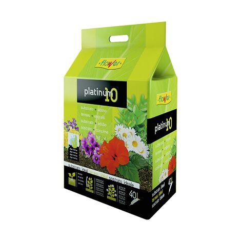 FLOWER Substrato + Abono Universal Platinum-10, 40 Litros