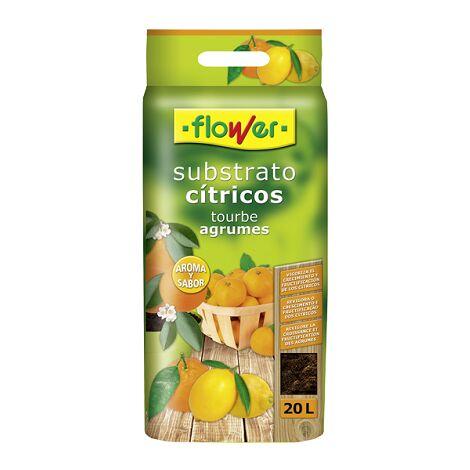 FLOWER Substrato Cítricos, Bolsa con Asa, 20 Litros