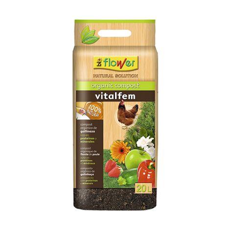 FLOWER Substrato Compost Orgánico VITALFEM 20 L