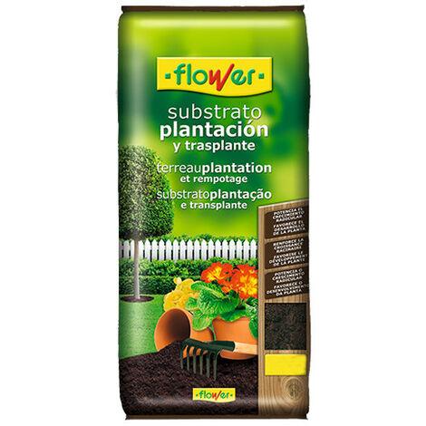 FLOWER Substrato Plantación y Transplante, 40 Litros