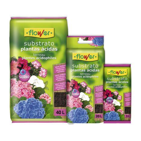 FLOWER Substrato Plantas Ácidas, Bolsa con Asa, 20 Litros