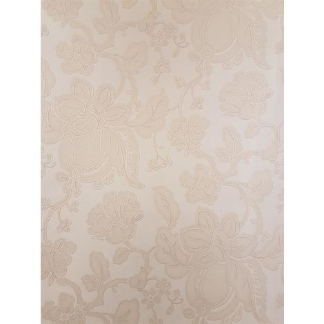 Flower Wallpaper Floral Itallian Vinyl Paisley Shiny Textured Embossed Gold