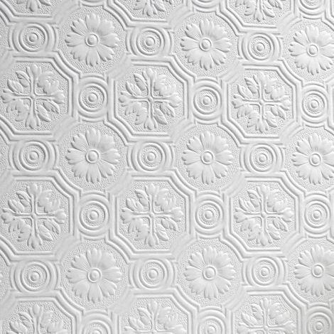 Flower Wallpaper Paintable Luxury Embossed Textured Vinyl Spencer Anaglypta