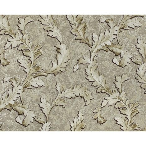 Flowers wallcovering wall EDEM 9010-38 non-woven wallpaper embossed baroque style shiny grey green silver 10.65 m2 (114 ft2)