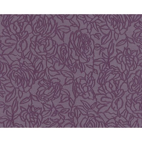 Flowers wallcovering wall EDEM 9040-29 hot embossed non-woven wallpaper embossed with floral ornaments shiny violet red lilac 10.65 m2 (114 ft2)