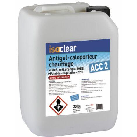 Fluide antigel-caloporteur chauffage dilue 20L