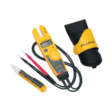 Fluke T5-H5-1AC II KIT Testeur de courant, de continuité et de tension (T5-1000) & Testeur électrique VoltAlert™ (1AC II) combiset - AC/DC 1000V & AC 100A