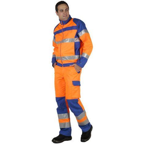 FLUOPRO Blouson de travail homme haute visibilité coton/polyester MDH