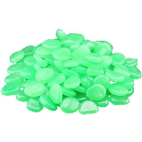 Fluorita Artificial, Piedra de Guijarro, 500 piezas, Verde