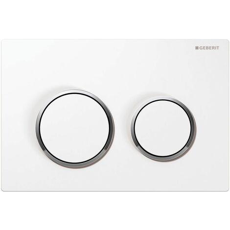Flush actuator plate Omega 20 white/bright chrome/white - 115.085.KJ.1