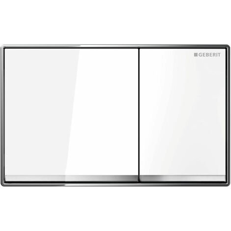 Flush actuator plate OMEGA60, white (115.081.SI.1)