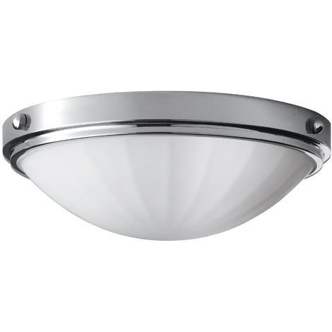Flush Mount Domed Ceiling Light in Polished Chrome by Washington Lighting