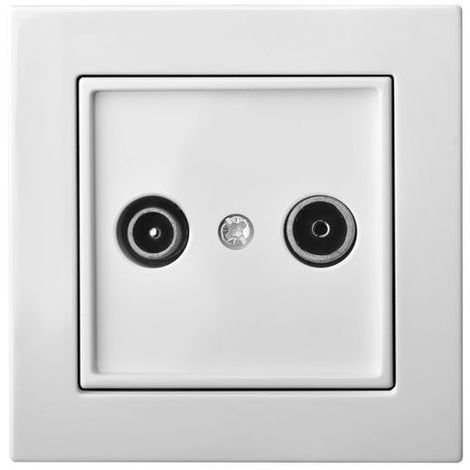 Flush Mount Terminal Tv And Fm Outlet, Frameless