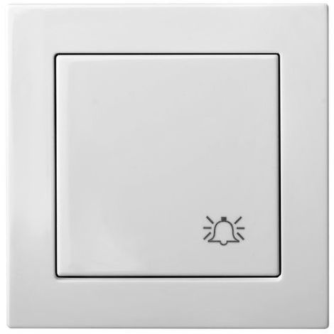 Flush Mounting Frameless Button, White