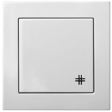 Flush Mounting Switch Crossed, 1 Group, Frameless