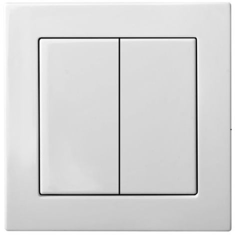 Flush Mounting Unidirectional Switch 2 Groups With Led Lamp, Frameless
