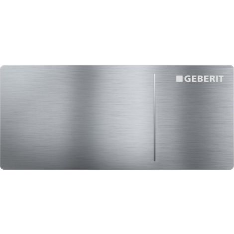 Flush plate OMEGA70, brushed stainless steel GEBERIT (115.084.FW.1)