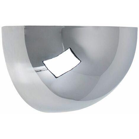 Flush Wall Light Uplighter Grey Chrome