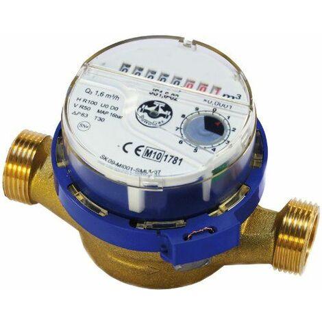 Flux de compteur d'eau de haute qualité, eau froide 1/2inch (3/4 pouce) mètres bsp 1,6 m3 / h