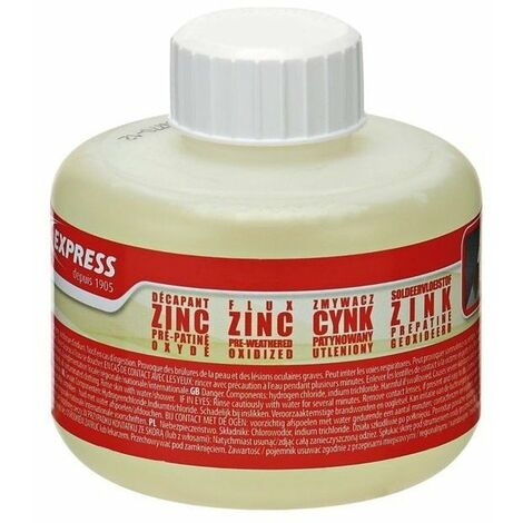 Flux decapant pour zinc pre-patine flacon 250 ml