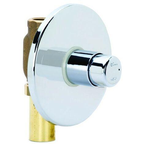 Fluxometro empotrado River R732/08 para WC con placa de latón cromado | Cromado