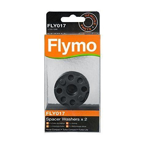 Flymo FLY017 Lot de 2 disques d\'écartement pour tondeuse à coussin d\'air