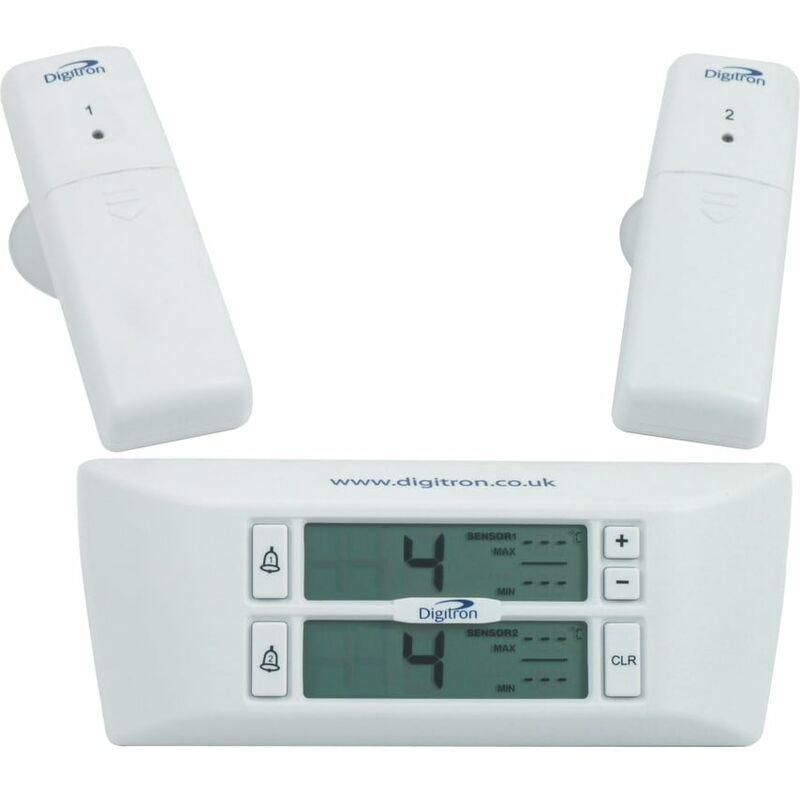 Image of FM25 Wireless Digital Thermometer 2 Sensor Alarm - Digitron