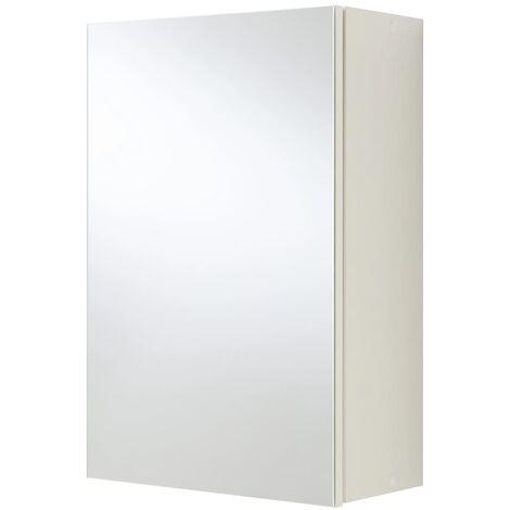FMD Armoire de salle de bain avec miroir Blanc