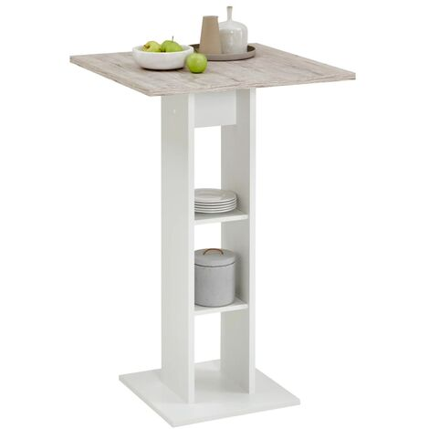 FMD Bar Table White and Sand Oak
