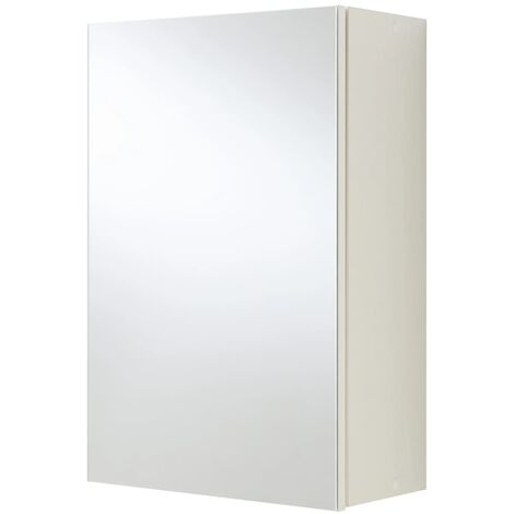 FMD Bathroom Mirrored Cabinet White
