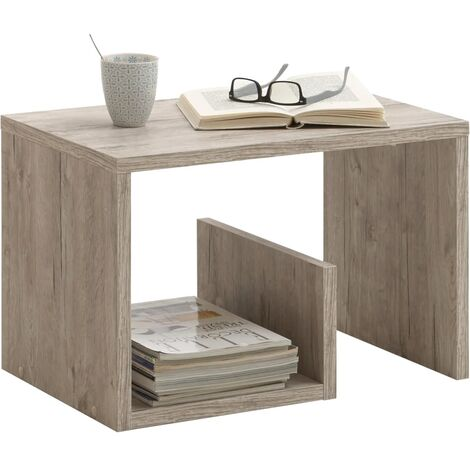 FMD Coffee Table 2-in-1 59.1x35.8x37.8 cm Sand Oak