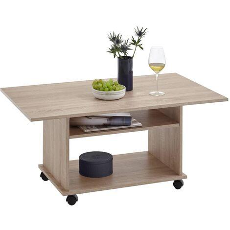 FMD Coffee Table with Castors Oak Tree