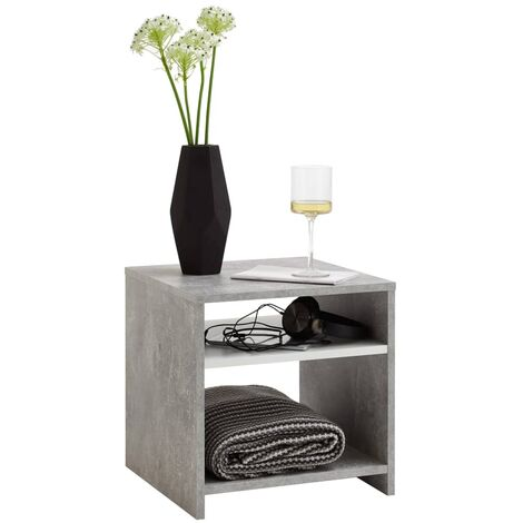FMD Coffee Table with Shelf Concrete Grey and White