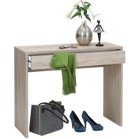 FMD Desk with Wide Drawer 100x40x80 cm Oak