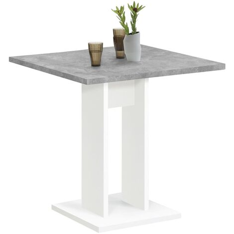 FMD Dining Table 70cm Concrete Grey and White