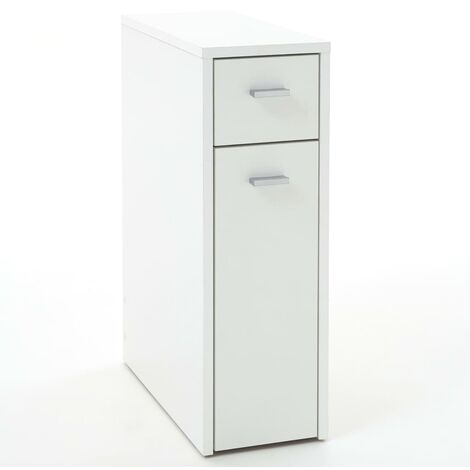 FMD Drawer Cabinet with 2 Drawers 20x45x61 cm White - White