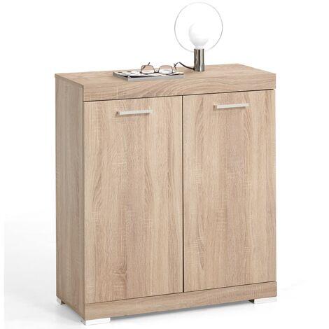 FMD Dresser with 2 Doors 80x34.9x89.9 cm Oak - Beige