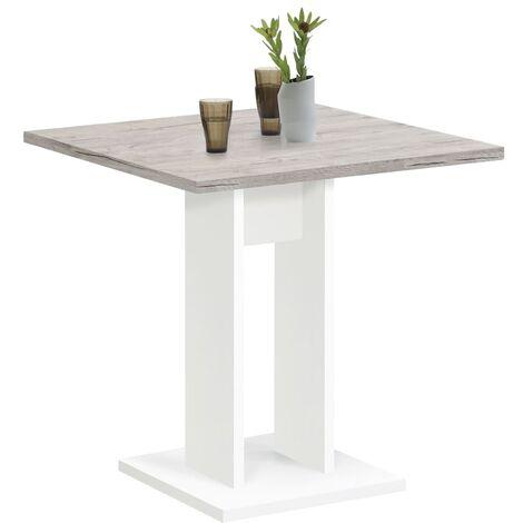 FMD Mesa de comedor blanca 70 cm - Blanco
