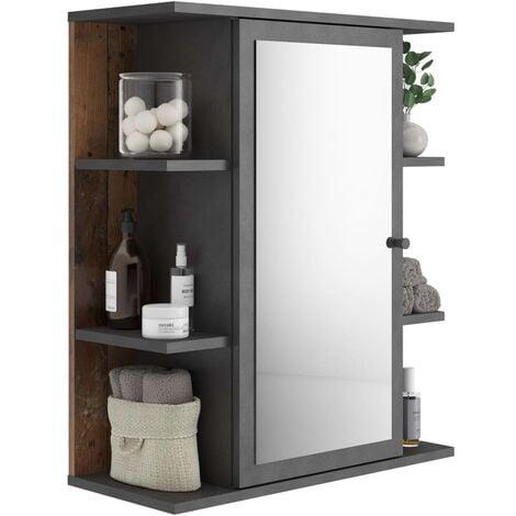 FMD Mirrored Bathroom Cabinet Matera Old Style Dark - Multicolour
