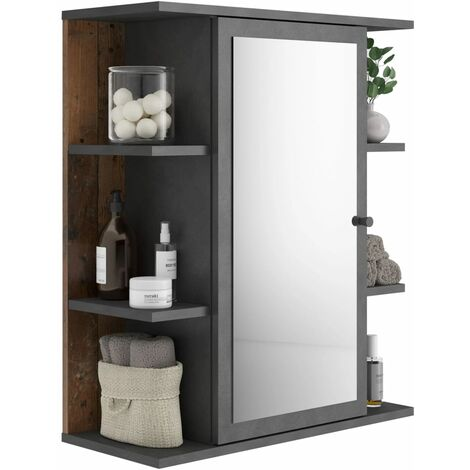 """main image of """"FMD Mirrored Bathroom Cabinet Matera Old Style Dark - Multicolour"""""""