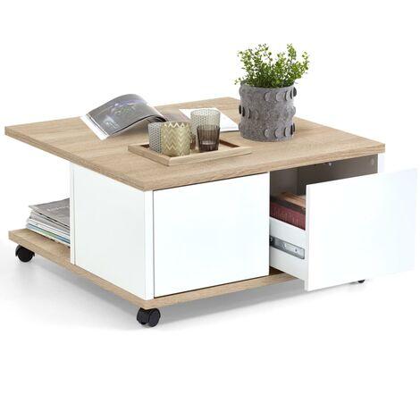 """main image of """"FMD Table Basse Mobile Table d'Appoint Table Basse Moderne de Salon Bout de Canapé Mobilier de Salon Meubles Modernes d'Intérieur Multicolore"""""""
