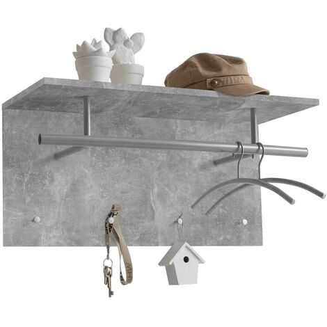 FMD Wall-mounted Coat Rack 72x29.3x34.5cm Concrete Grey