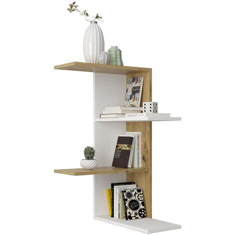 FMD Wall-mounted Corner Shelf Furniture Shelving Unit Floating Wall Shelf Storage Corner Rack Cupboard Organiser Home Decor Multi Colours