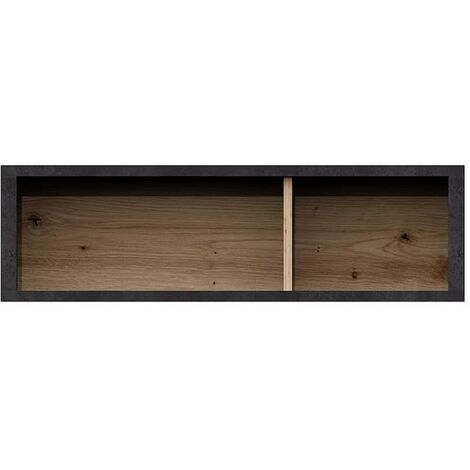 FMD Wall-mounted Shelf with 2 Compartments Artisan Oak Steel Dark