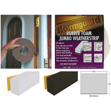 """main image of """"Foam Jumbo Thick Draught Excluder - Black"""""""