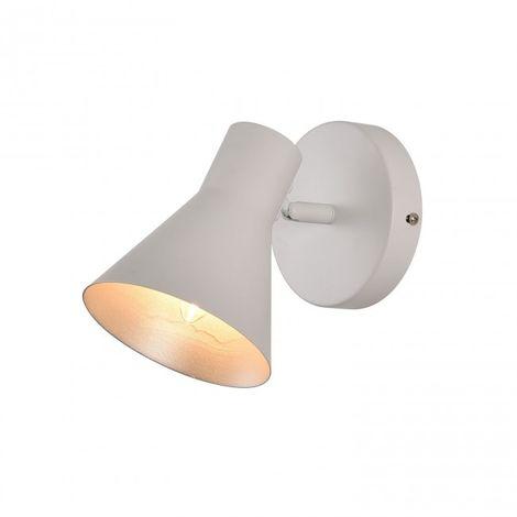 Foco 1 luz casquillo E14 color blanco interior foco plata